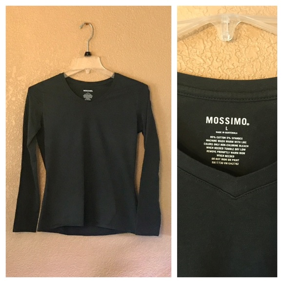 Mossimo Supply Co. Tops - Form Fitting Long Sleeve Tee